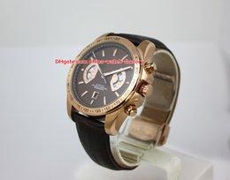 Wholesale gold chronograph new - Luxury High Quality Watch 43mm 17RS CAV515C.FC6231 18k Gold Leather No Chronograph Asia Transparent Mechanical Automatic Mens Watch Watches