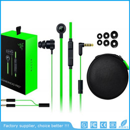 Wholesale Noise Isolation - Razer Hammerhead Pro V2 Headphone in ear earphone With Microphone With Retail Box In Ear Gaming headsets Noise Isolation Stereo Bass 3.5mm