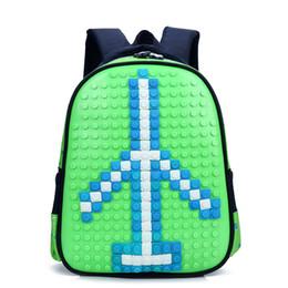lego borse Sconti Borsa Lego Puzzle Style 3-6 anni Nursery Uomo e donna Bambino Ridge Multi Color Zaino opzionale