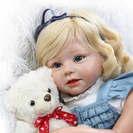 """Niños recién nacidos online-Suavidad de silicona Realista Reborn Toddlers Niñas Baby Dolls 28 """"(70cm) Bebés Juguetes para niños con cabello rubio"""
