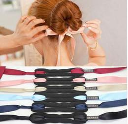 Haarband lockt online-Mode Frauen Haar Zubehör New Hair Curls Bun Kopf Band Maker Magic Making Tool Band Bowknot Brötchen Maker Neu