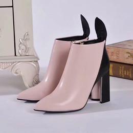 tubo del cordón de los hombres Rebajas Botas de tobillo de moda de mujer de cuero real Zapatos de tacones de marca de diseñador Diseñadores Calzado Botas de Martin gratis de invierno / otoño DHL por shoe02 13