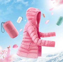 2019 kurzarm khaki jacke Womens Hooded Packable Ultra Light Weight Short Daunenjacke Langarm Warm Schlank Mantel Female Solid Portabl Outwear günstig kurzarm khaki jacke