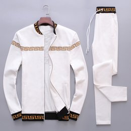 Wholesale men star jacket - Designer Luxury Brand Europe Italy Stars Fashion Mens tracksuit Sport Sweatshirt Casual Women Zipper Jacket Human Head Logo M-4XL