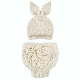 24469d20c4c Newborn Baby Photography Props Baby Girls Boys Handmade Crochet Knitted Hat+Pants  2pcs Outfits Set Props Accessories 0-4M