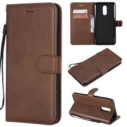 Q mobiltelefon online-Brieftasche für LG Stylo 4 Q Stylus Flip Back Cover reine Farbe PU Leder Handy Taschen Coque Fundas