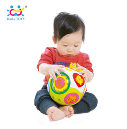 Wholesale Teaching Machine - HUILE TOYS 938 Baby Toys Toddler Crawl Toy with Music & Light Teach Shape Number Animal Kids Early Learning Educational Toy Gift