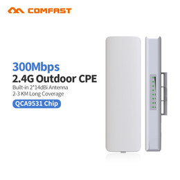 Wholesale Network Router Wifi - 2pc Comfast CF-E314N Wireless Outdoor WIFI Router CPE 300M Signal Amplifier WIFI Access Point POE Network Bridge Nanostatation