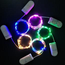 1m LED String String Button Button Party Birthday Wedding Luci di Natale Lampada Decorazione del partito Drop Shipping da matrimoni acriliche di vasi fornitori