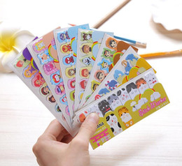Wholesale Self Sat - Creative stickers cartoon row of animals to sit environmental mini notes sticky notes n stickers Korean Stationery GA146
