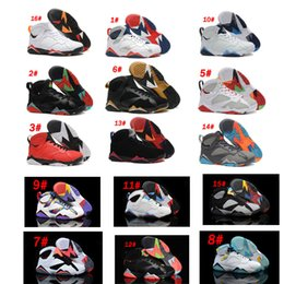 Wholesale Purple Netting - Air Retro 7 Men Basketball Shoes 7s Hare University Blue French Blue GMP Raptor Nothing But Net Bobcats MARVIN THE MARTIAN Cardinal Sneakrs