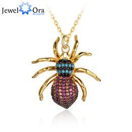 оптовая ожерелье для насекомых Скидка Классический паук насекомых ожерелье подвески для женщин девушка прохладный мода костюм украшения ювелирных изделий оптом (jewelora NE102764 )
