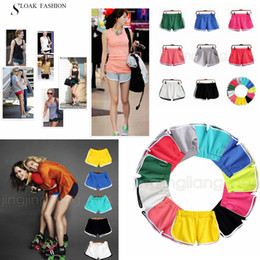 Wholesale women s beach pants cotton - 8 Colors Women Cotton Yoga Sport Shorts Gym Homewear Fitness Pants Summer Shorts Beach Running home clothing Pants AAA598 30pcs