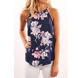 Wholesale works bell - Women Blouses 2017 Casual Elegant OL Floral Blouse Slim Sleeveless Work Wear Blusas Feminina Tops Shirts Plus size