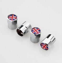 Union Jack England flag Auto di alta qualità Mini pneumatico copri valvola ruota Pneumatico parapolvere parapolvere Ugello Cap 13 * 9mm da