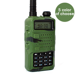 Wholesale Case For Walkie Talkie - Baofeng 5 Color Handheld Soft Rubber Case Portable Silicone Cover Shell for Baofeng UV-5R Series Two Way Radios Walkie Talkie