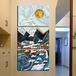 2019 abstraktes buntes leinwandstück Große 3 Stück Schöne auf Leinwand gedruckt Nordic Dekoration Wandkunst bunte abstrakte Gemälde HD Drucke und Plakate Bilder günstig abstraktes buntes leinwandstück