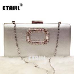0f2a7737e ETAILL Saco de Noite Simples Mulheres Diamante Strass Cristal Cadeia de Ombro  Bolsa Pequena Bolsa de Casamento Sacos de Festa À Noite