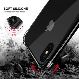 Wholesale Ultra Slim Case For Iphone - Air Cushion Shockproof Ultra Thin Slim Transparent Clear Soft TPU Gel Cover Case For iPhone X 8 7 Plus 6 6S Samsung Galaxy S9 S8 Plus Note 8