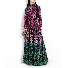0436776bbeab vintage pleated maxi dress Coupons - 2018 new designer fashion runway Maxi  dress Women long-