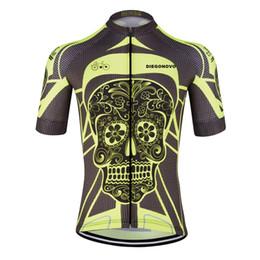 Wholesale cheap men clothes china - 2018 Sports crane yellow bright skeleton cycling jersey wear china cheap short sleeve men cycling clothing t shirts customized
