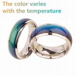 Wholesale felt gifts - 2018 Fine Jewelry Mood Ring Temperature Changing Color Feeling Ring Party Supplies Emotion Creative Gift Wholesale