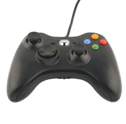 2019 xbox slim black Gamepad usb wired joypad controlador para microsoft para xbox 360 slim para pc windows7 cor preta joystick controlador de jogo xbox slim black barato