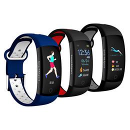 Canada Bluetooth Smart Band Q6S Bracelet Moniteur de fréquence cardiaque IP67 Étanche Smartband Bracelet de suivi d'activité pour Android DHL Offre