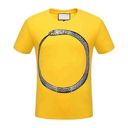 T-shirt à motif serpent animal brodé de marque italienne pour hommes 2018 Italie ? partir de fabricateur