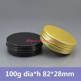 Pots à la crème colorée en Ligne-100g or / noir en aluminium bocaux boîte de montre 100ml métal peut pour anti-démangeaison Gel / crème boîte à bijoux boîte-cadeau emballage boîte de montre en or, bocal coloré