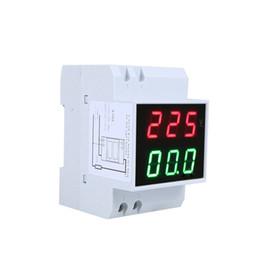 Wholesale Ac Rail - AC80-300V 0.2-99.9A Voltmeter Ammeter Dual Display diagnostic-tool Tester Din-Rail LED Voltage power bank voltimetro amperimetro