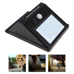 Wholesale Hot Fence - Hot Selling 20 LED Solar Motion Sensor Wall lights Outdoor Courtyard Fence Hotel Villa Security wall lights 20Pcs free shipping DHL