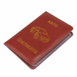 Wholesale Travel Documents Case - BOVIS Vintage Driver License Wallet Rfid Car-Covers for Documents Designer Travel Auto Wallets Case Card Holder -- BIH024 PM49