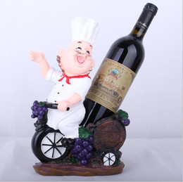 chef block Promo Codes - Resin Chef Wine Rack Stand Cook Wine Bottle Holder Home Ornaments Shelf Crafts Rack Shelf for Party