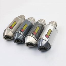 Canada Tuyau d'échappement silencieux court de 38mm 51mm avec le tueur démontable de DB pour le système de silencieux d'acier inoxydable de la moto 310mm cheap exhausts systems Offre