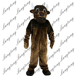 Wholesale bull costumes - 2018 New high quality bull ox cow Mascot costumes for adults circus christmas Halloween Outfit Fancy Dress Suit Free Shipping023