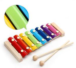 2019 artigos de plástico Brinquedo musical do xilofone de madeira para crianças - com chaves de som claras do metal