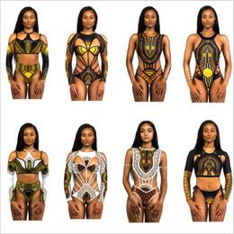 Wholesale wholesale one piece swimsuits - Bikini Plus Size Swimwear Women African Digital Tribe Kaftan Swimsuit Print One Piece Bikini Bandage Sexy Fashion Bikinis Bathing Suits 3757