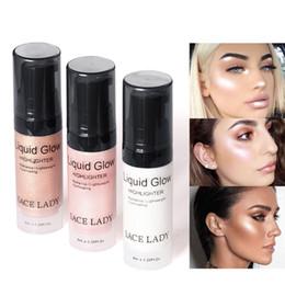 Creme gesichts-kit online-Neue Ankunft Gesicht Textmarker Creme Liquid Illuminator Make-up Schimmer Glow Kit Bilden Gesichts Erhellen Glanz Marke Kosmetik