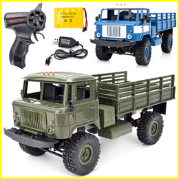 Wholesale rc 16 - Rc cars Naughty dragon b-24 rc trucks four-wheel drive off-road climb 1:16 military electric model toy rc car for kids toys