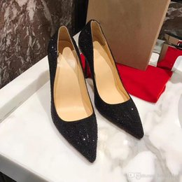 Wholesale Closed High Heels - New Arrival Luxury Brand Women Red Bottom Heels Wmen Designer Suede High Top Studded Spikes Flats Party Dress Heels Casual Shoes