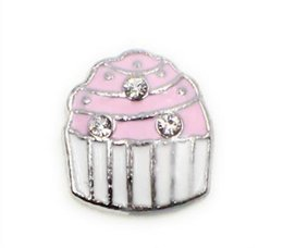 Wholesale Pink Cake Plate - 20PCS lot Pink Cake DIY Charms Accessories Fit For Glass Living Magnetic Memory Floating Locket Jewelrys