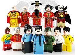 Wholesale action brand - 12pcs Set Chinese Style Action Figures DIY Accembling Building Block Figures Gift Toys Compatible With Major Brand Bricks