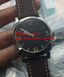 Wholesale Transparent Sapphire - latest version Luxury AAA Brand 47 mm Black dial PAM587 PAM 587 Transparent glass P3000 Mechanical automatic High quality Mens Watches