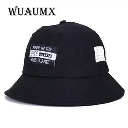 Wuaumx  Fashion Visor Folding Casual Summer Beach Bucket Hat For Men Women  UV Sunscreen Large Brimmed Fisherman Sun Hat Chapeu 1813af6a5c6