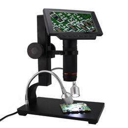 loupe portable à microscope numérique Promotion Andonstar ADSM302 5 pouces écran LCD numérique HDMI Microscope 3MP Loupe d'enregistrement vidéo pour PCB réparation de téléphone portable à souder