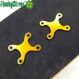 Wholesale Alloy Bolts - 2pc Aluminium Alloy Skateboard Deck Screws Protection Pads Cruiser Longboard Bolts Anti-Sinking Sagging Guard Shim Scooter Parts