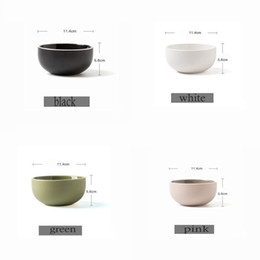 Wholesale Dinnerware Wholesale China - 4 Colors European Style Matte Glazed Ceramic Bowl Rice Soup Bowl China Dinnerware