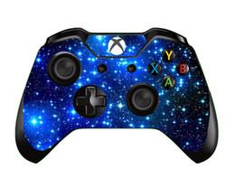 Xbox vinilo online-10 unids / lote Galaxy Bubble Blue Fire rojo púrpura vinilo etiqueta de la piel para Xbox One Controller Gaming etiqueta de la piel
