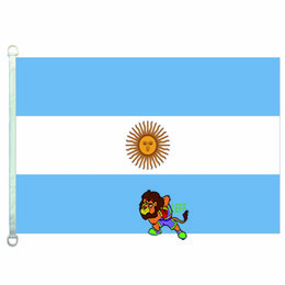 Argentina bandiere online-Bandiera Argentina, 90 * 150 cm, 100% poliestere, bandiera, stampa digitale